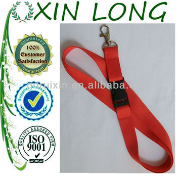 red id badge lanyards with custom logo 2013