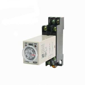 H3Y-2 AC 220V 110V DC 12V 24V Timer Time Delay Relay 0-30 Minute with on