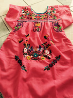 2016 Boho Hand Embroidery Design Cotton Dress For Baby Gril Kids Children Frock Dresses HSD5471