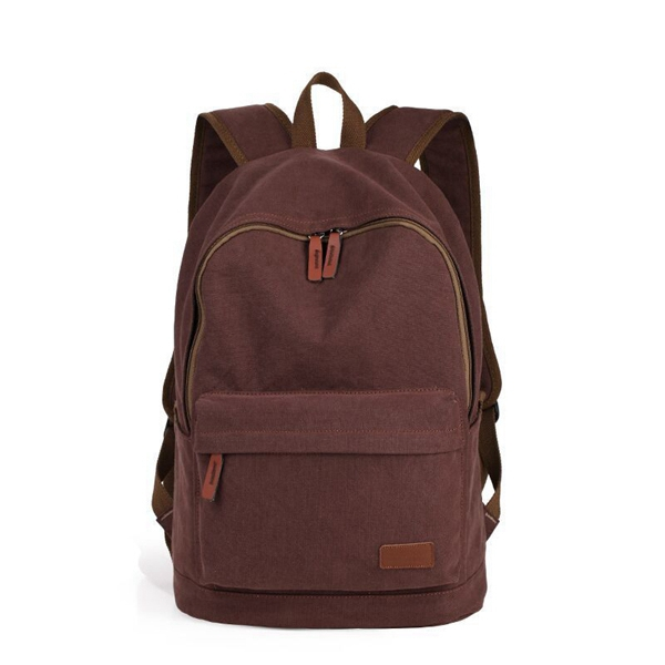 Familiar with ODM factory pu leather augur canvas bags backpack khaki brown army green