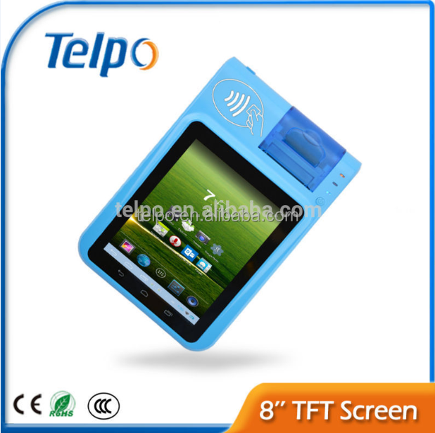 Telpo TPS586 wireless android pos terminal for airtime top up machine, bill payment machine, ticket issue machine