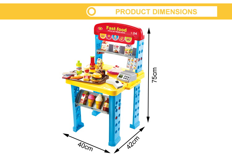 New design pretend play plastic food toys food toys set pretend food ...