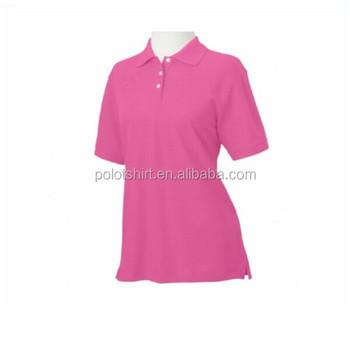 Señoras jersey de cuello color combinación marcas famosas de polo camisetas 8c8ac89a778d0