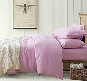 Minimalism Lilac Bedding Teen Bedding Kids Bedding Scandinavian Design Bedding Duvet Cover Set, Queen Size