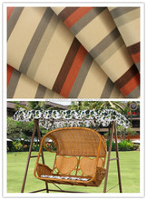 Custom waterproof 100 polyester plain fabrics ,custom verious of stripe printing use for garden chair resting