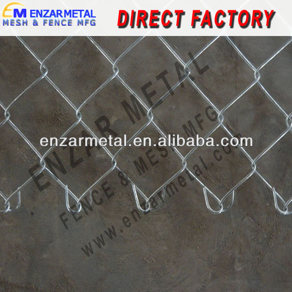 Metal Mesh Fencing with Ground Screw Anchor