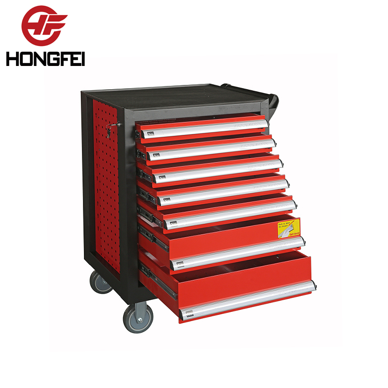 7 Drawers Steel Complete Trolley Tool Box