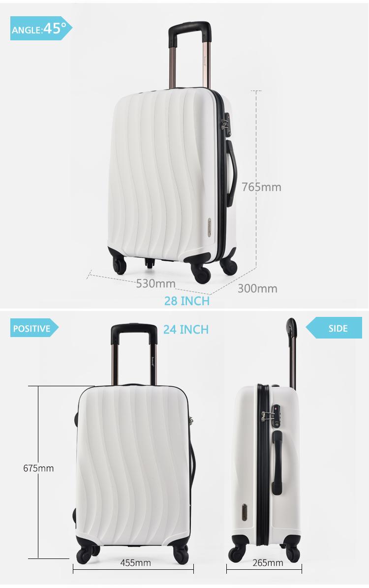 BUBULE Cheap Price Cabin Size Expandable Travel 3Pcs PP Zipper Luggage