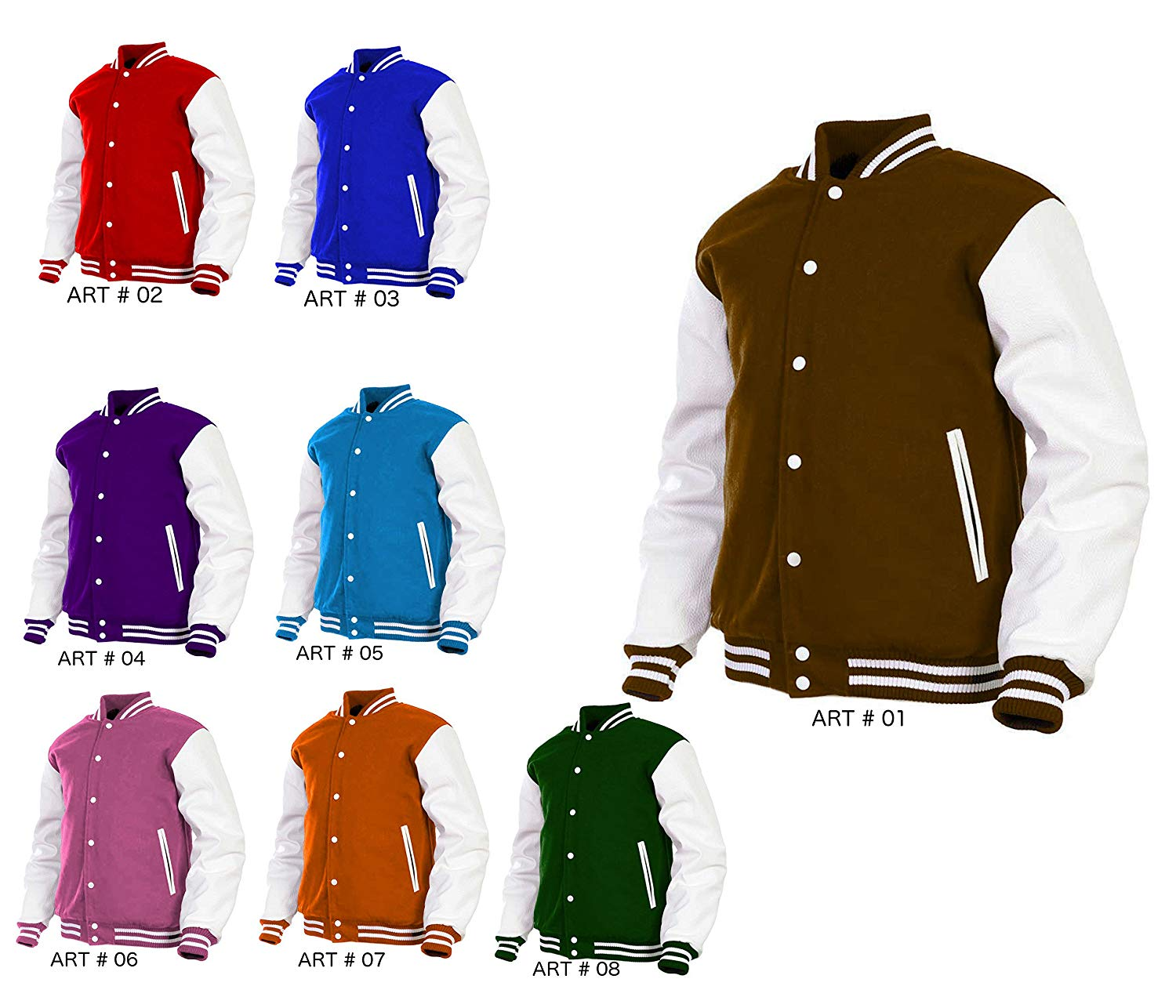 Get Quotations · Women Varsity Jacket Genuine Leather Sleeve and Wool Blend  Letterman Ladies Girls College Varsity Jackets 0d62a389c