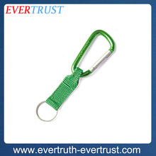 promotional hiking custom metal carabiner strap keychain