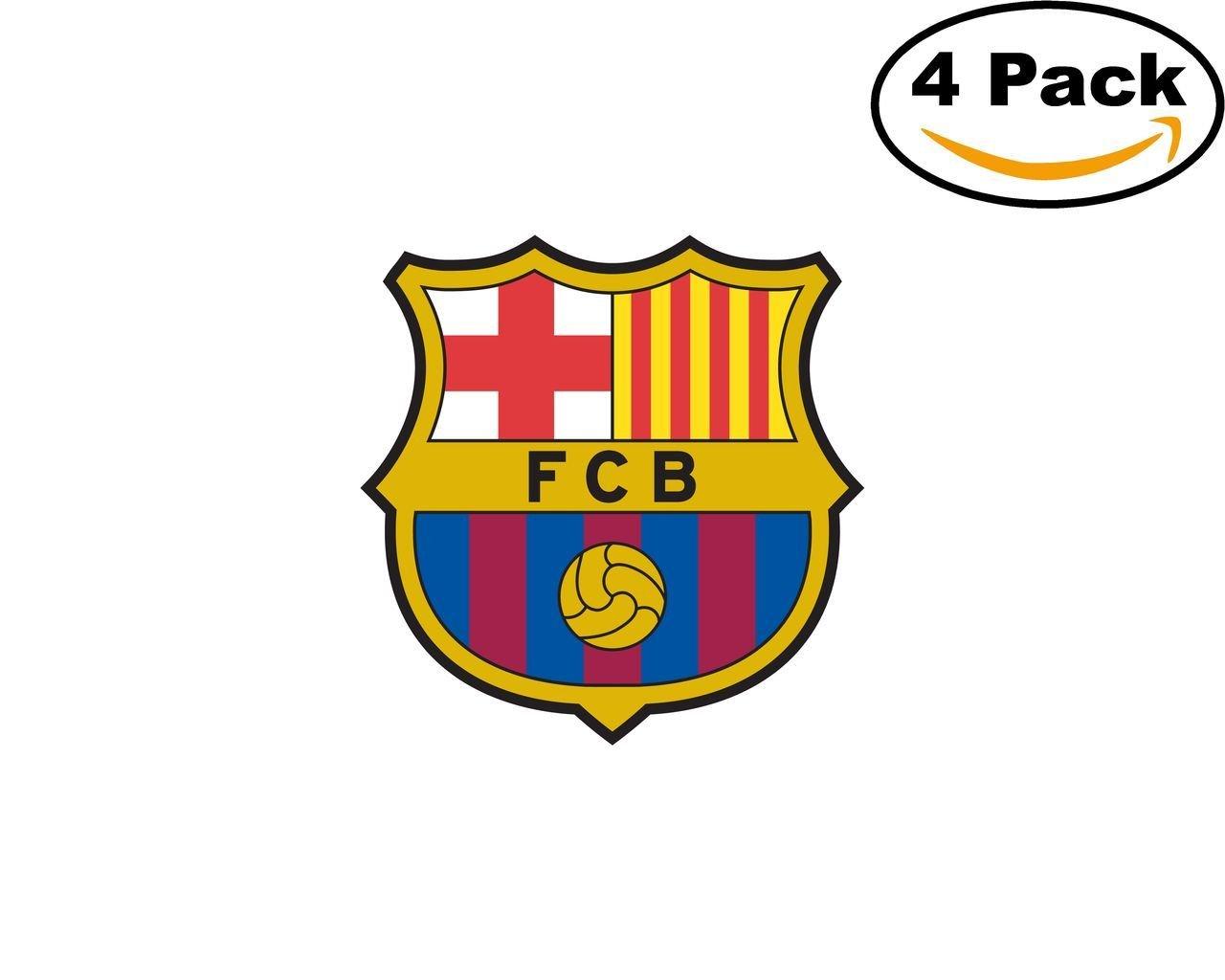 c42f65d20 Get Quotations · FC Barcelona 1 Spain Football Club Soccer FC 4 Sticker  Decal 4X4