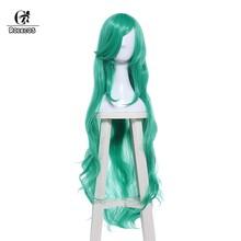 Аксессуары для косплея ROLECOS LOL sooraka, Длинные Зеленые локоны из синтетических волос для косплея, 100 см/39,37 дюйма(Китай)