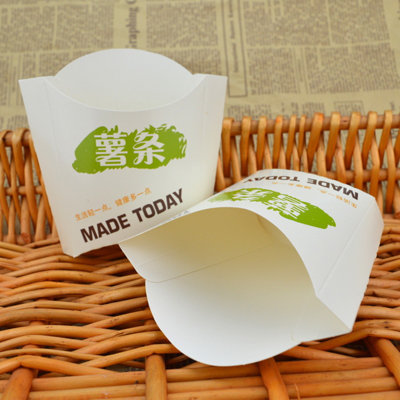 Chinese hot selling Disposable potato chips paper packaging box