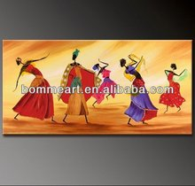 hand-painted artwork The African dance landscape oil-paintings on canvas mixorde Framed