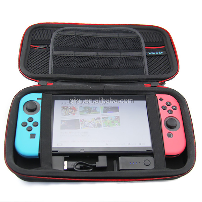 2017 Hard Shell Carrying Case with Power 8000mAh Travel Charging Storage Bag with Game Holder For Nintendo Switch Console