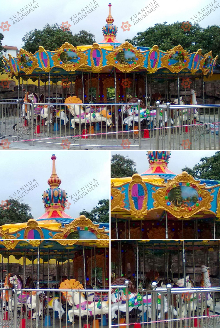 Exported to south korea amusement equipment theme park attractions 20p 20 seats luxury carousel
