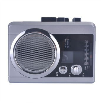Cassette Player with AM/FM support record voice into Tape ezcap237