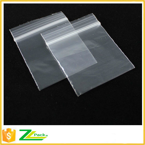 poly zipper bags with self adhesive bar