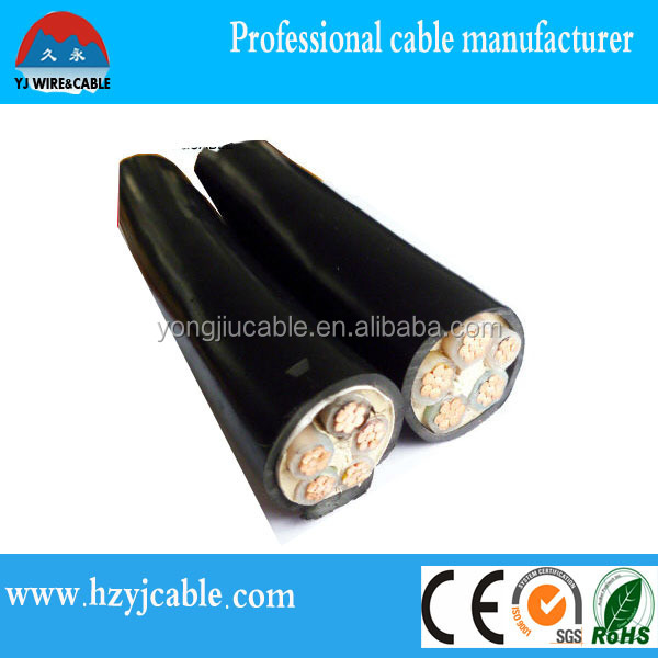 copper aluminum power cable electrical cable specifications 2 3 4 core armored cable xlpe insulation pvc sheath