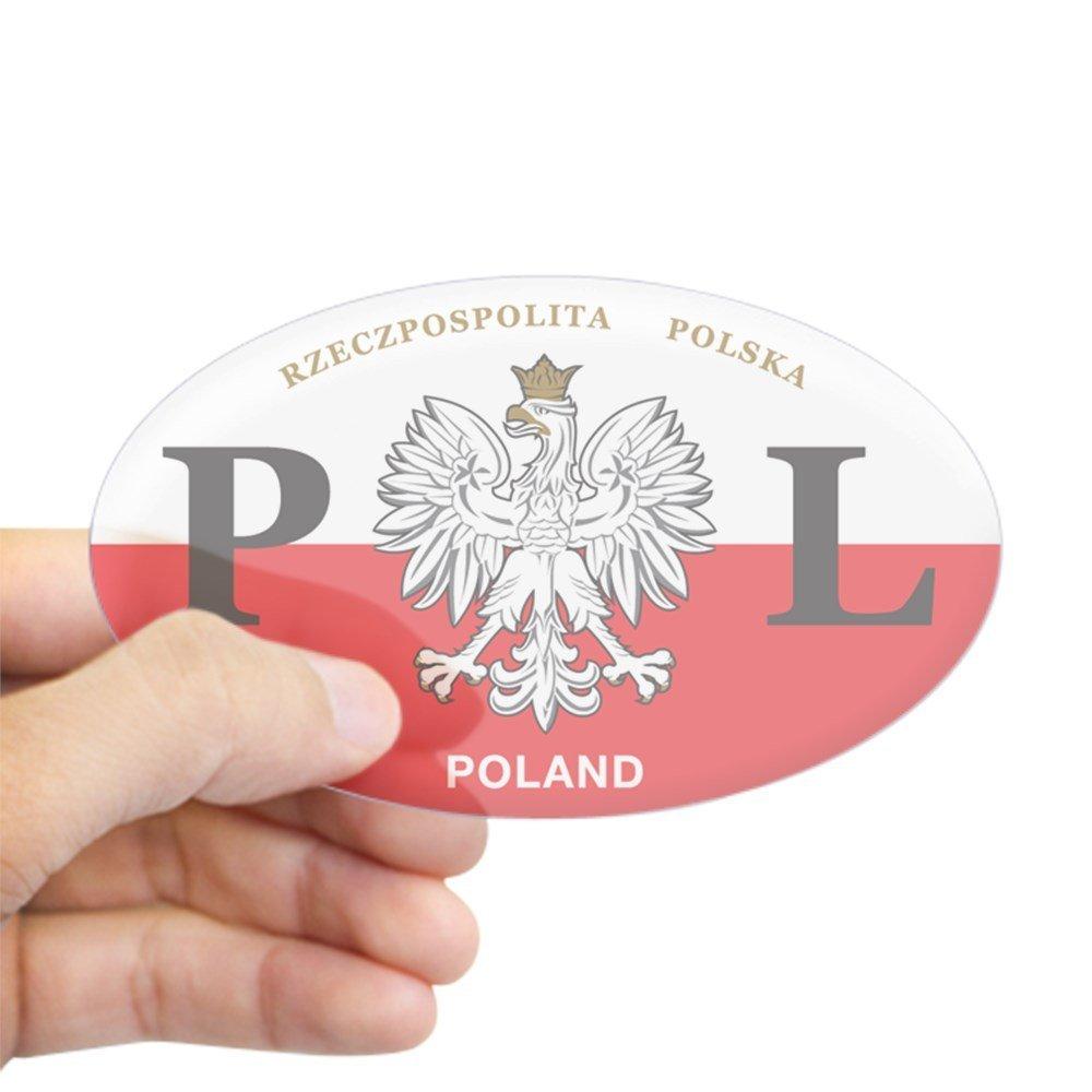 CafePress PL Car Decal - Polish Hritage - Oval Sticker Sticker Oval - Standard
