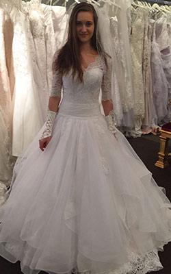 Brautkleid schulterfrei