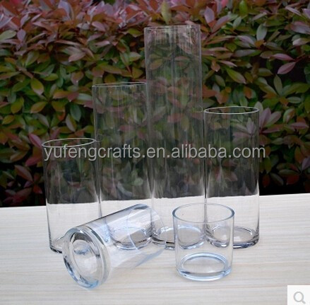 Clear Glass Wedding Centerpieces Cylinder Vases
