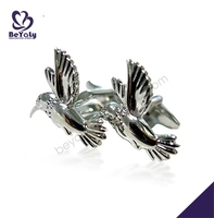 IP&PVD plating shiny lucky chic mens favor flying bird cufflink