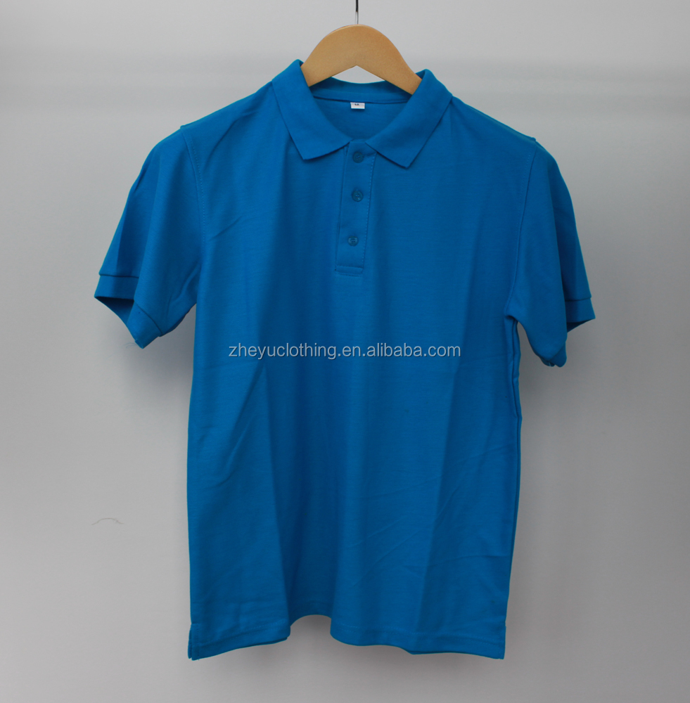 Wholesale advertising 230gram 65polyester 35cotton polo shirt with embroidery patch