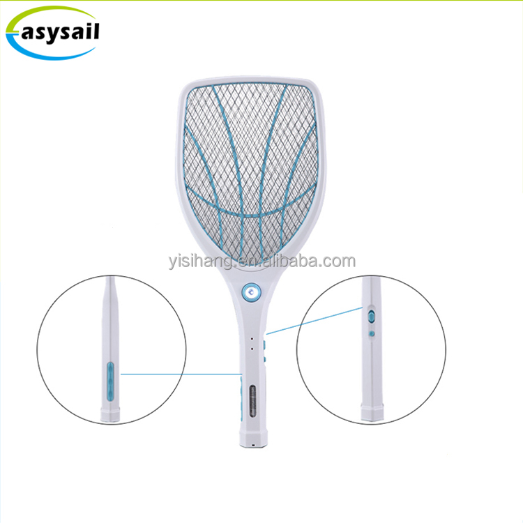 factory price double switch mosquito racket DC 3V electronic insect killer