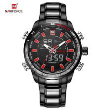 Часы NAVIFORCE мужские, спортивные, цифровые, аналоговые из нержавеющей стали(China)