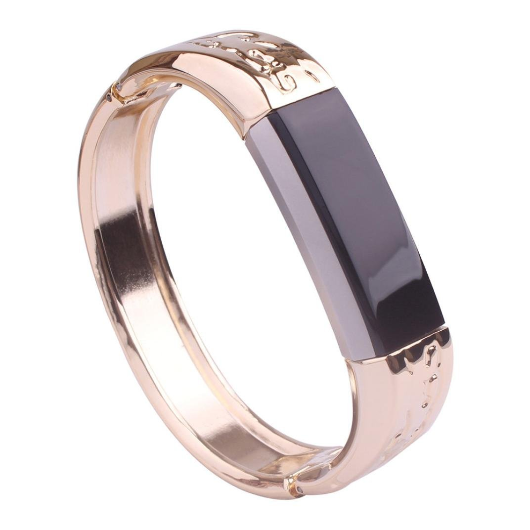 RTYou Stainless Steel straps, (TM) Hot Durable Genuine Stainless Metal Band Strap Jewelry Bracelet Bangle For Fitbit Alta