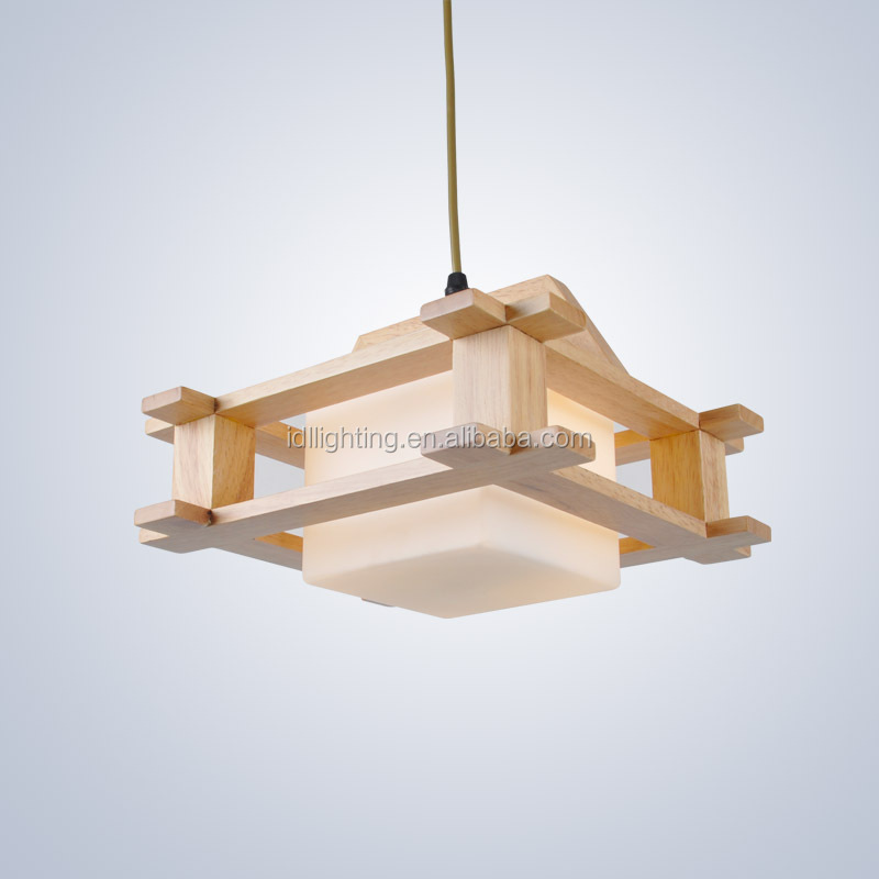Stylish Modern Wooden Lamp,Wooden Pendant Light,Canteen Light ...