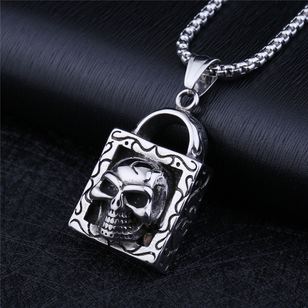 NS 003 Yiwu Huilin Jewelry New Punk David Star Necklace Pendants Mens Stainless Steel Vintage Hexagram Necklace Men