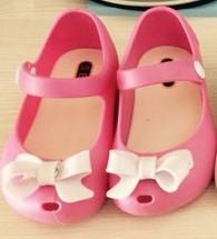 children beach Sandals melissa plastic shoes bow Korean crystal jelly sandals kids child retail wholesale fish