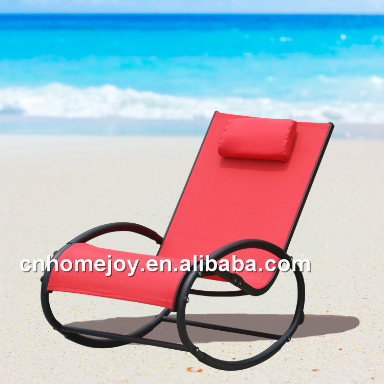 High quality moon rocker padded sun lounger, cheap chaise lounge