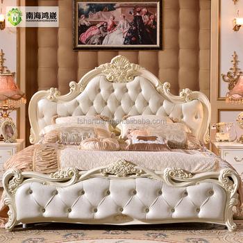 Antique Europäischen Barock Bett Hochzeit Wohnmöbel Holz Französisch ...