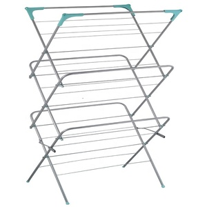 NEW STOCK 3 TIER CONCERTINA CLOTHES AIRER LAUNDRY DRYER FREE STANDING FOLDING TOWEL RACK