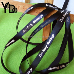 YQ-WR14 High Quality Custom Print Grosgrain Ribbon 3/8'' foil print ribbon