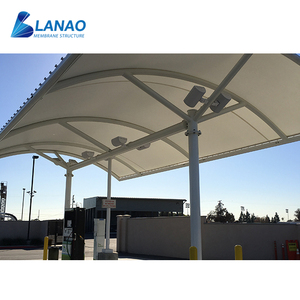 Metal structure shed roofing canopy design petrol fuel membrane structure construction cost of gas station canopy