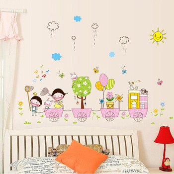 Cartoon Childrenu0027s Room Bedroom Wall Stickers Nursery Wall Stickers  Removable Wall Art Stickers Wholesale AY7060 Part 81