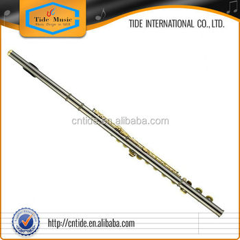 High grade flute 16 closed hole Black Nickel plated body with gold plated keys