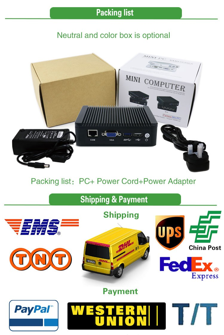 Price include carriage mini server Intel Atom E3845 4 lan linux pfsense aes-ni firewall appliance pc support 3G/4G console COM