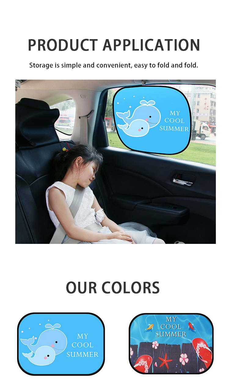 ZY-C-48 Electrostatic adsorption side window sun block car sunshade side block cartoon sunscreen heat insulation visor R-2937