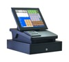 12 inch touch screen P.O.S. terminal with thermal printer,cash drawer,customer display,software