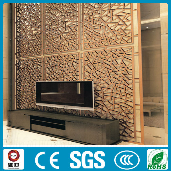 Customized Interior Decoration Laser Cut Metal Screen Room