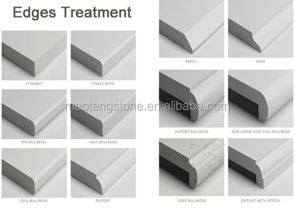 High Quality Eased Polished Edges Factory Products White