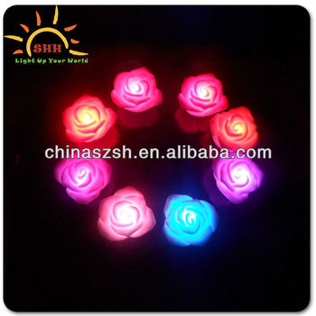 Red Rose Love Mood Lamp Night Light Wedding Favor Decoration Hot Colors Changing Led Roses Lighting Flashing