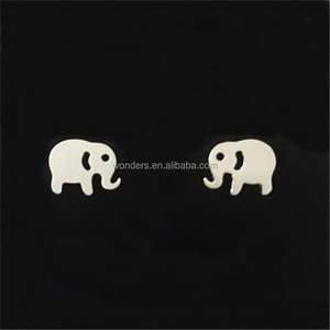 Tiny Elephant Earrings Animal Studs Gold Plated Stainless Steel Gold Plated Jewelry Girls Women Daily Wear Pendientes