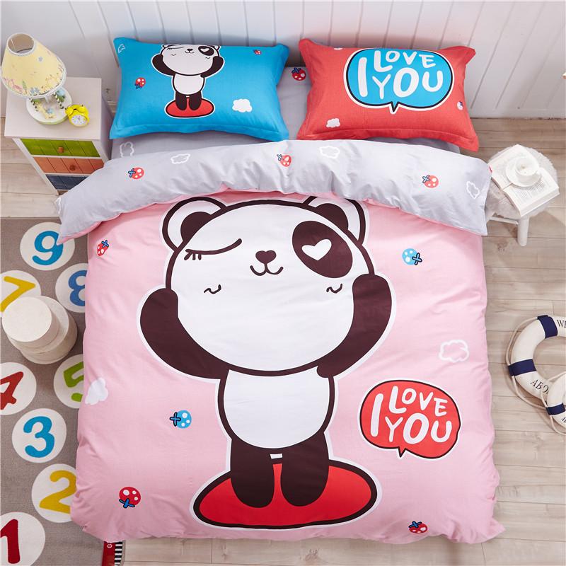 grossiste housse de couette panda acheter les meilleurs housse de couette panda lots de la chine. Black Bedroom Furniture Sets. Home Design Ideas