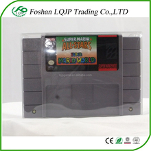 Clear Plastic Box for SNES CARTRIDGE PROTECTOR CLEAR VIDEO GAME CASE Box for SUPER NINTENDO